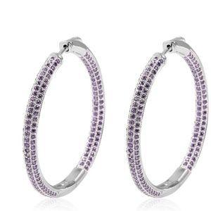 Unknown Jewelry - Purple Hoop Earrings